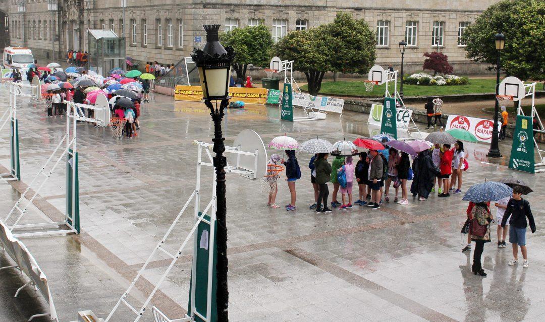 A chuvia suspende a Festa do Baloncesto na rúa