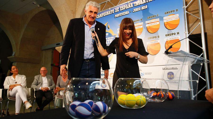 Romay, en el sorteo del Campeonato de España