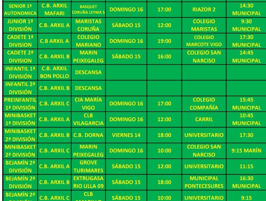 14ª CIRCULAR – TEMPORADA 18/19 – 15 Y 16 DE DICIEMBRE