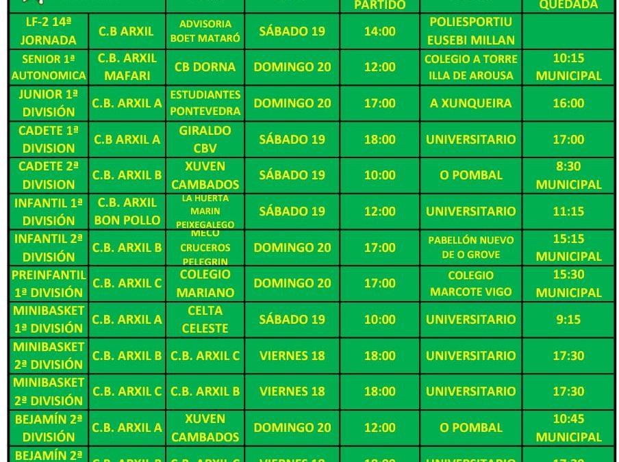 17ª CIRCULAR. TEMPORADA 18/19    18, 19 Y 20 DE ENERO