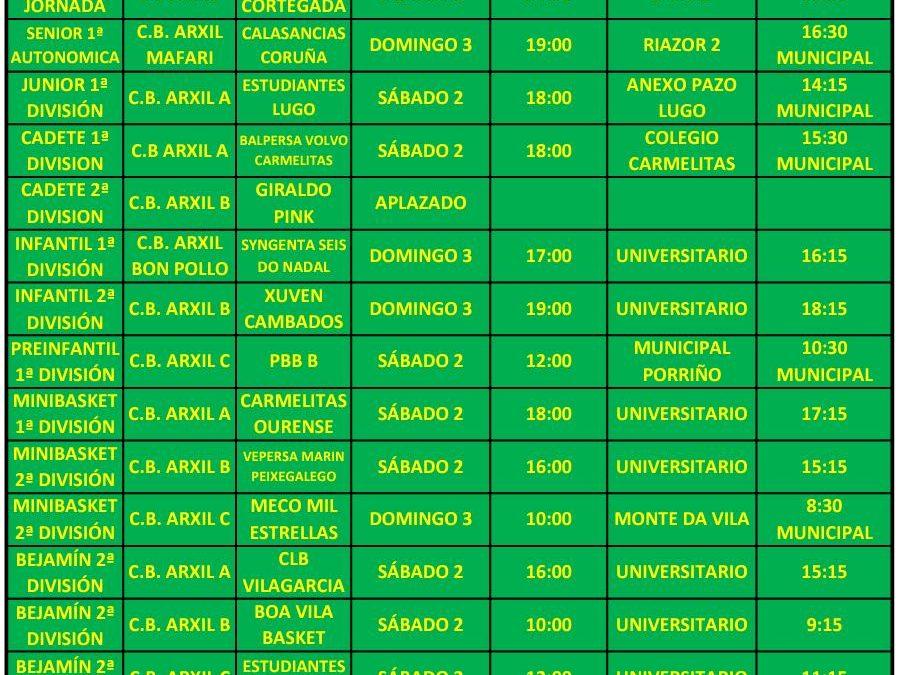 19ª CIRCULAR. TEMPORADA 18/19. 1, 2 Y 3 DE FEBRERO