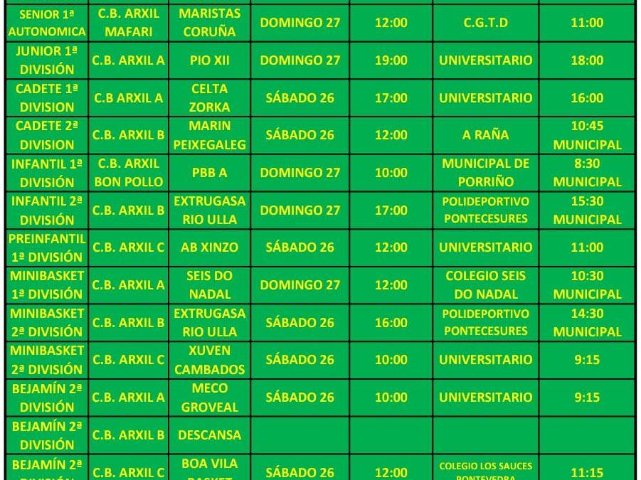 18º CIRCULAR. TEMPORADA 18/19. 26 Y 27 DE ENERO