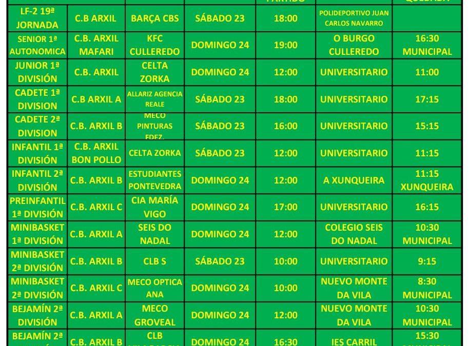 22ª CIRCULAR. TEMPORADA 18/19. 23 Y 24 DE FEBRERO