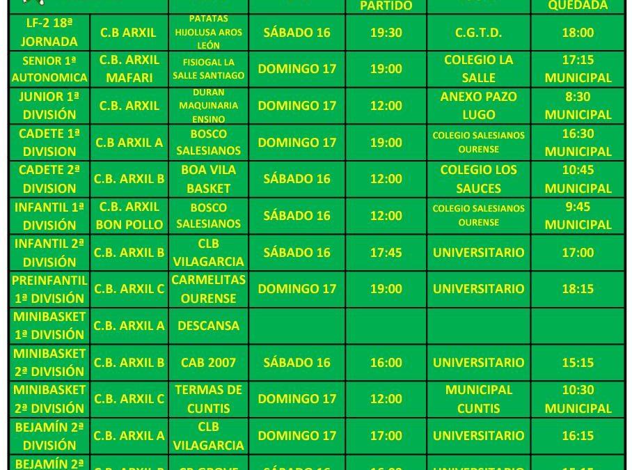 21ª CIRCULAR. TEMPORADA 18/19. 15, 16 Y 17 DE FEBRERO