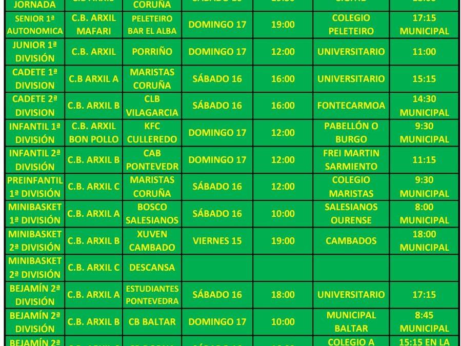 25ª CIRCULAR. TEMPORADA 18/19. 15, 16 Y 17 DE MARZO
