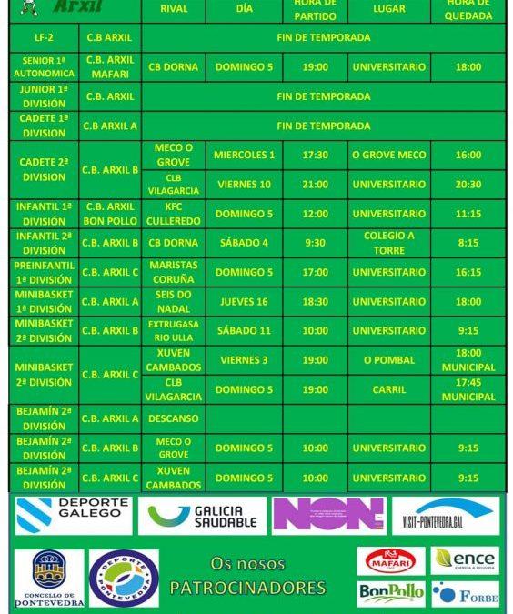 31ª CIRCULAR. TEMPORADA 18/19 – 4, 5 Y 6 DE MAYO