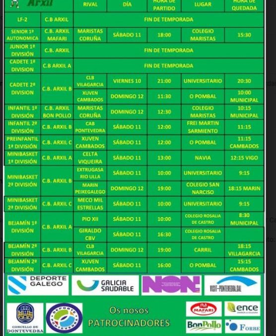 32ª CIRCULAR. TEMPORADA 18/19. 10, 11 Y 12 DE MAYO