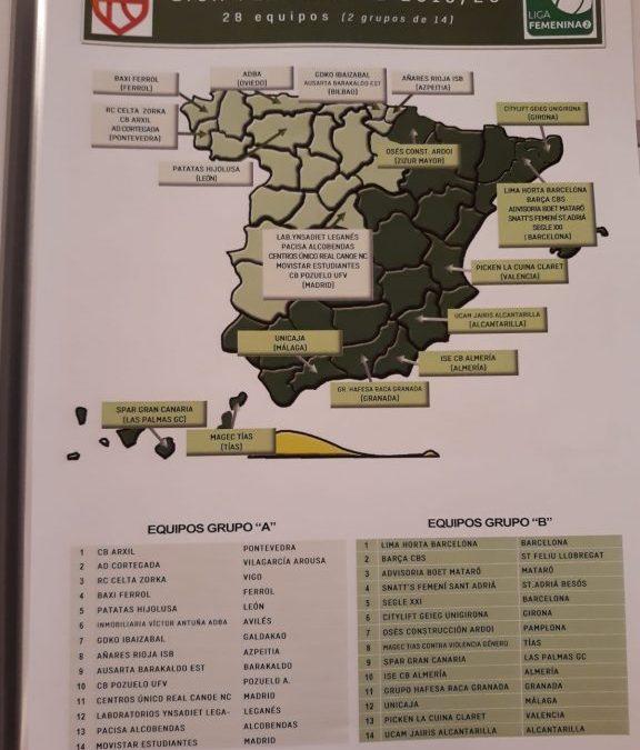 EL C.B.ARXIL YA CONOCE LOS RIVALES EN LA LIGA FEMENINA DOS PARA LA TEMPORADA 2019/2020