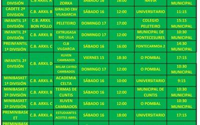 CIRCULAR 10. TEMPORADA 19/20. 16 Y 17 DE NOVIEMBRE