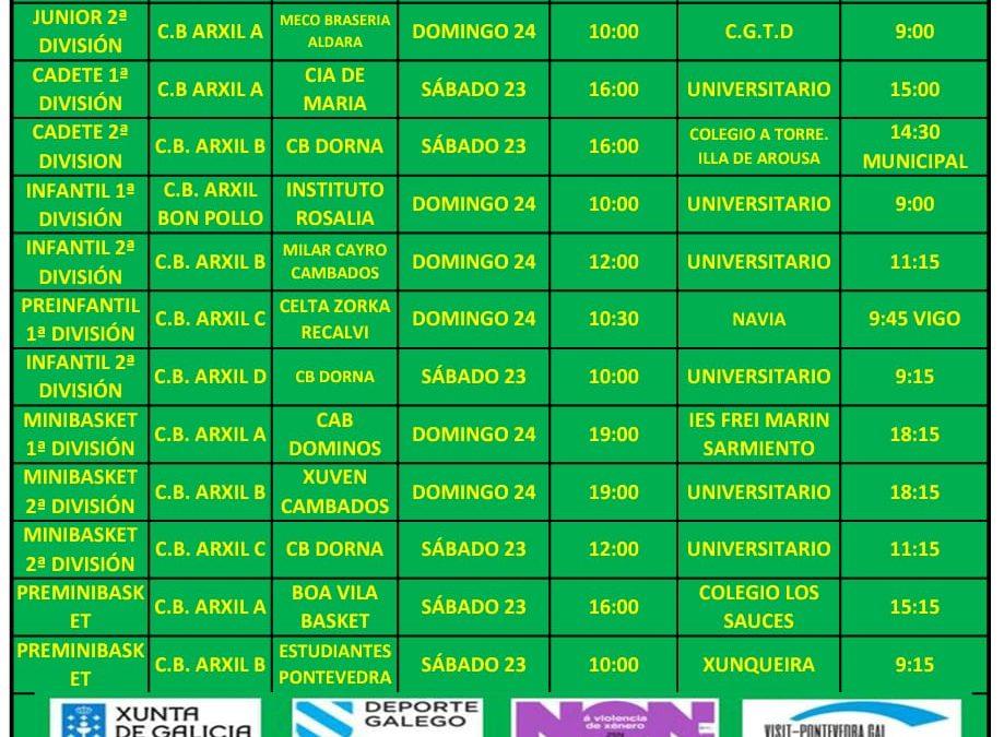 CIRCULAR 11. TEMPORADA 19/20. 23 Y 24 DE NOVIEMBRE