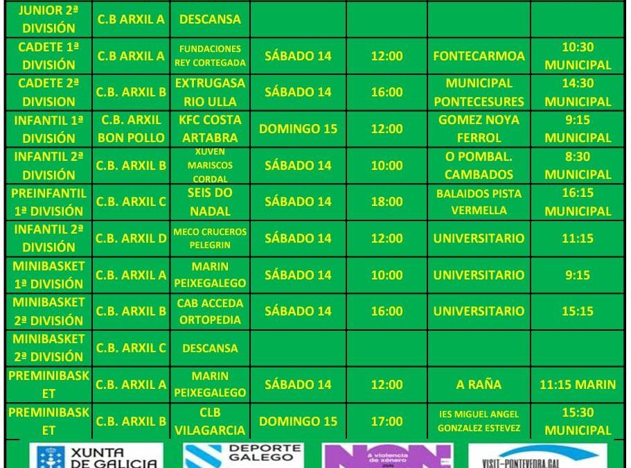 CIRCULAR 14. TEMPORADA 19/20. 14 Y 15 DE DICIEMBRE
