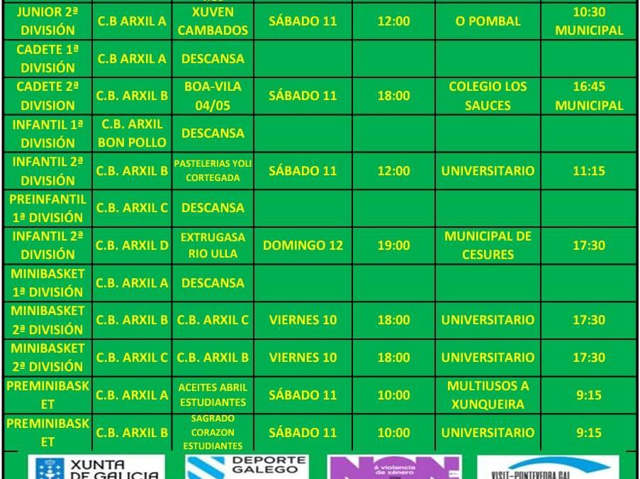 CIRCULAR 15. TEMPORADA 19/20. 11 Y 12 DE ENERO