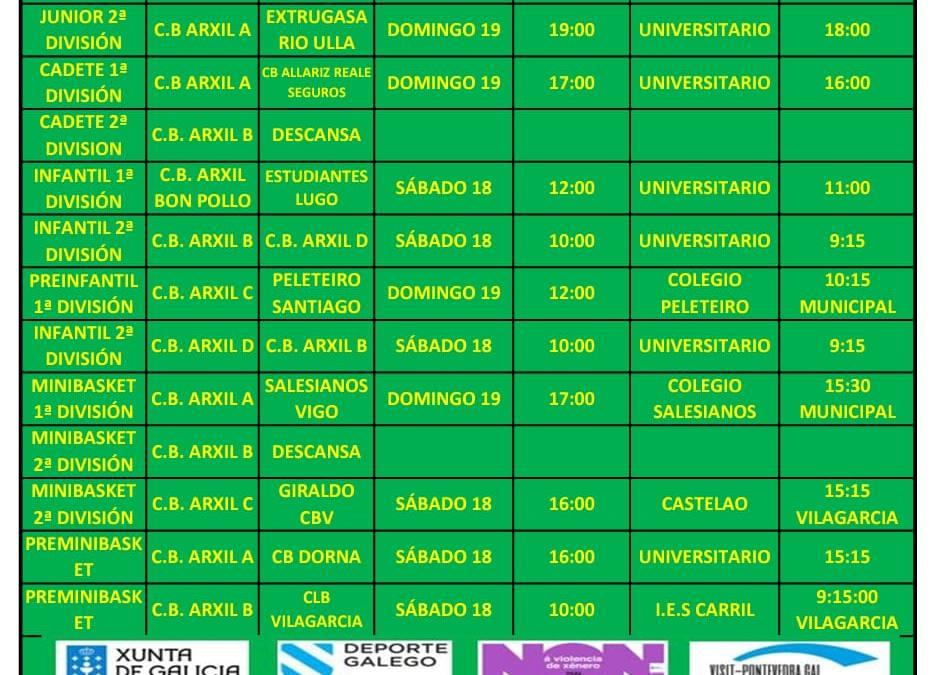 CIRCULAR 16. TEMPORADA 19/20. 18 Y 19 DE ENERO