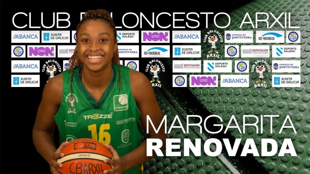 Margarita  Moreira seguirá de la mano del CB Arxil