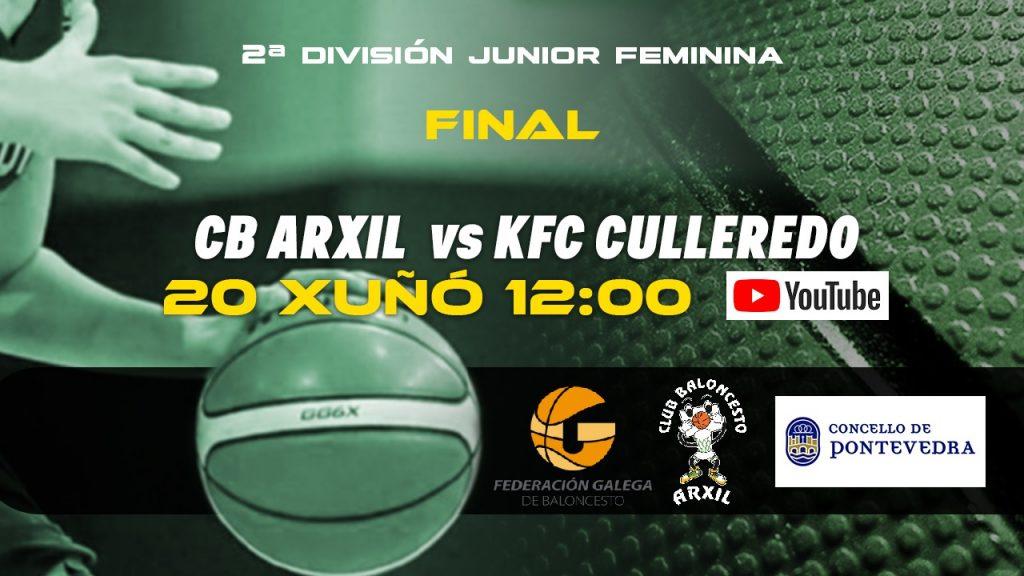 C.B.Arxil y KFC Culleredo jugarán la final este domingo a las 12:00.